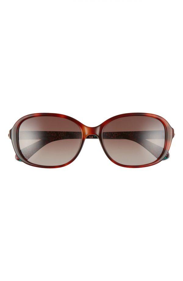 Women's Kate Spade New York Izabella 55mm Gradient Oval Sunglasses - Dark Havana/ Brown Gradient