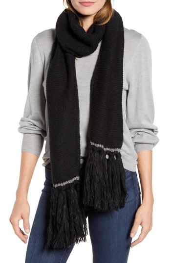 Women's Kate Spade New York Knit Tassel Scarf, Size One Size - Black