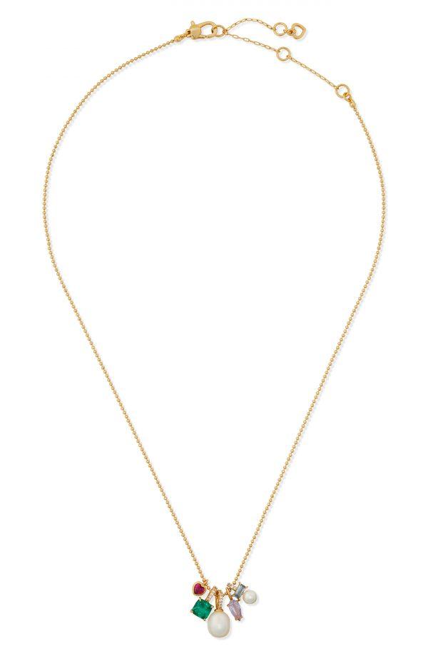 Women's Kate Spade New York Little Gem Charm Pendant Necklace