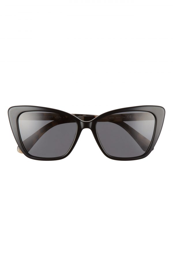 Women's Kate Spade New York Lucca 55mm Cat Eye Sunglasses - Black/ Grey