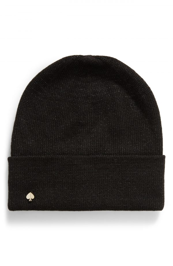 Women's Kate Spade New York Metallic Beanie - Black