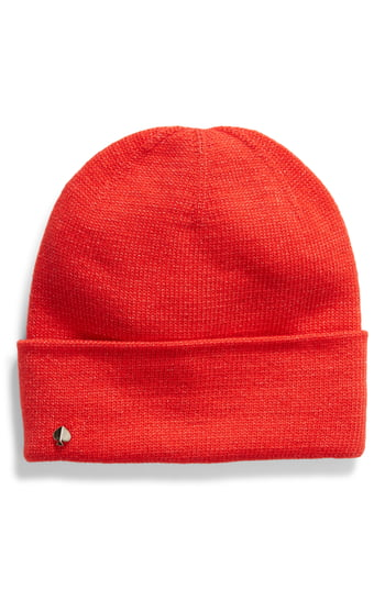 Women's Kate Spade New York Metallic Beanie - Red