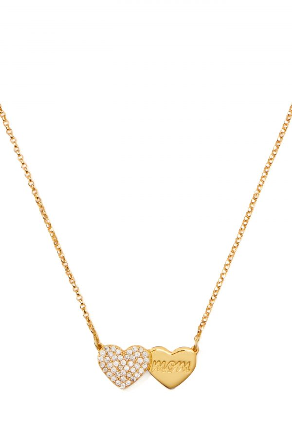 Women's Kate Spade New York Pave Heart Mom Pendant Necklace