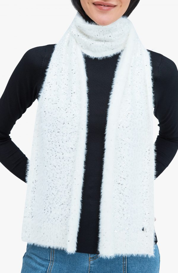 Women's Kate Spade New York Sequin Scarf, Size One Size - White