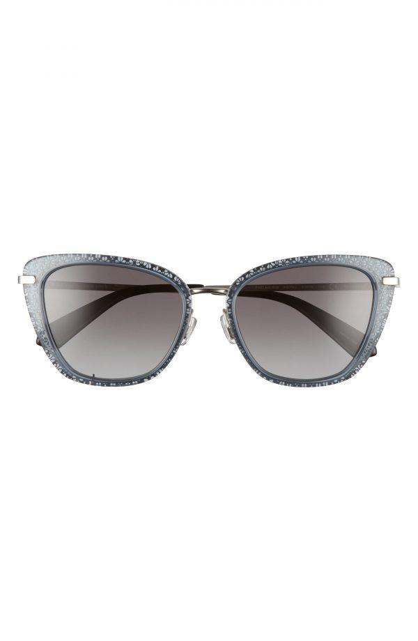 Women's Kate Spade New York Thelma 53mm Gradient Cat Eye Sunglasses - Grey/ Grey