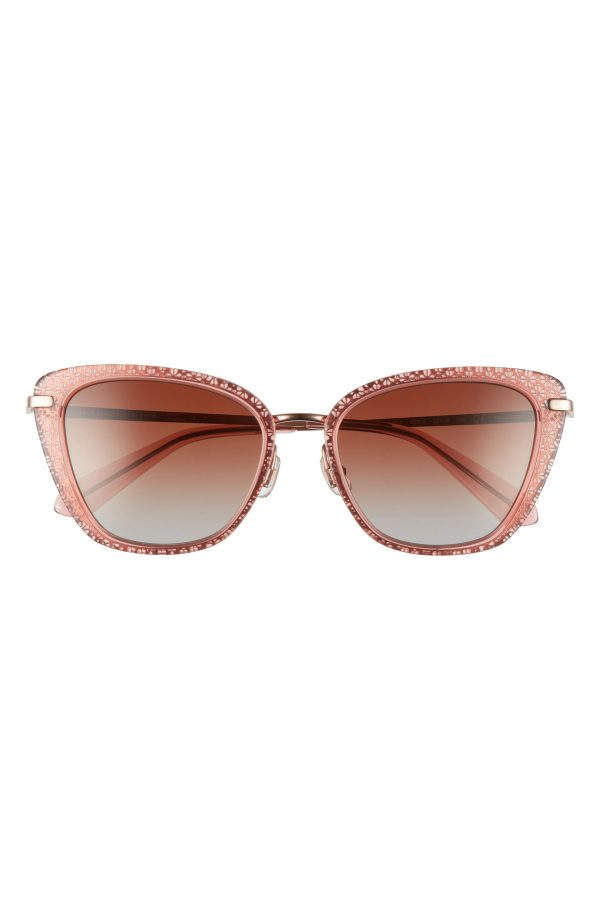 Women's Kate Spade New York Thelma 53mm Gradient Cat Eye Sunglasses - Pink/ Brown Gradient