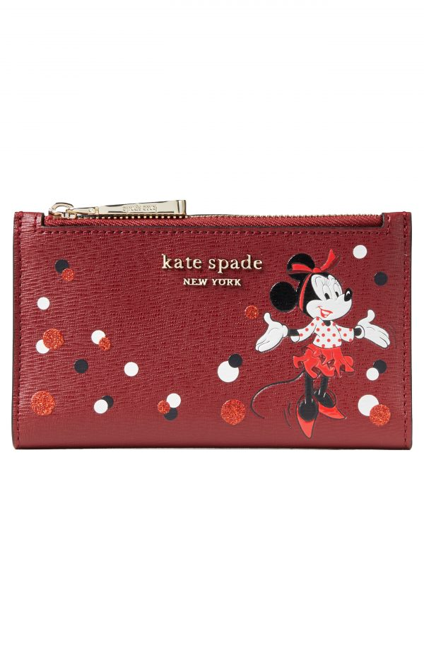 Women's Kate Spade New York X Disney Minnie Mouse Faux Leather Wallet - Red