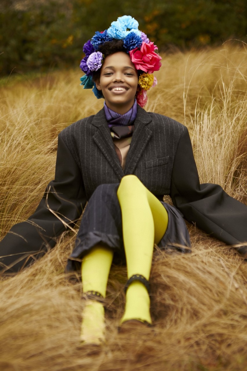 Yarlin Mateo Poses in Statement Looks for Wonderland Magazine