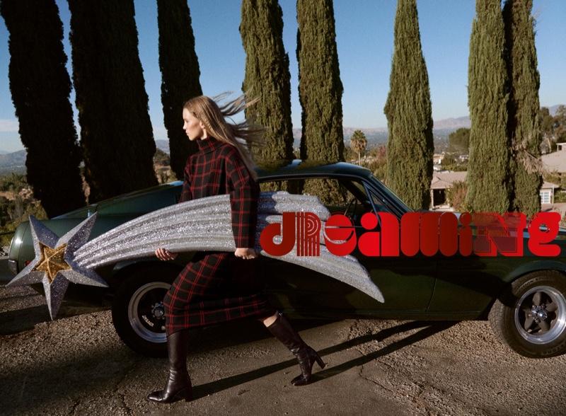 Rebecca Leigh Longendyke poses in Zara Dreaming editorial.
