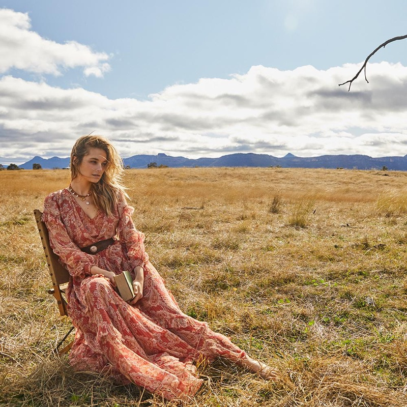 Bridget Malcolm stars in We Are Kindred resort 2021 campaign.