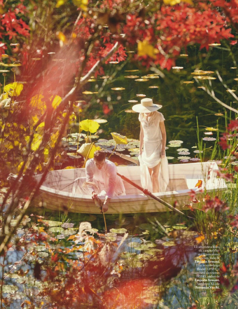 Cato Van Ee Poses in Romantic Styles for ELLE Spain
