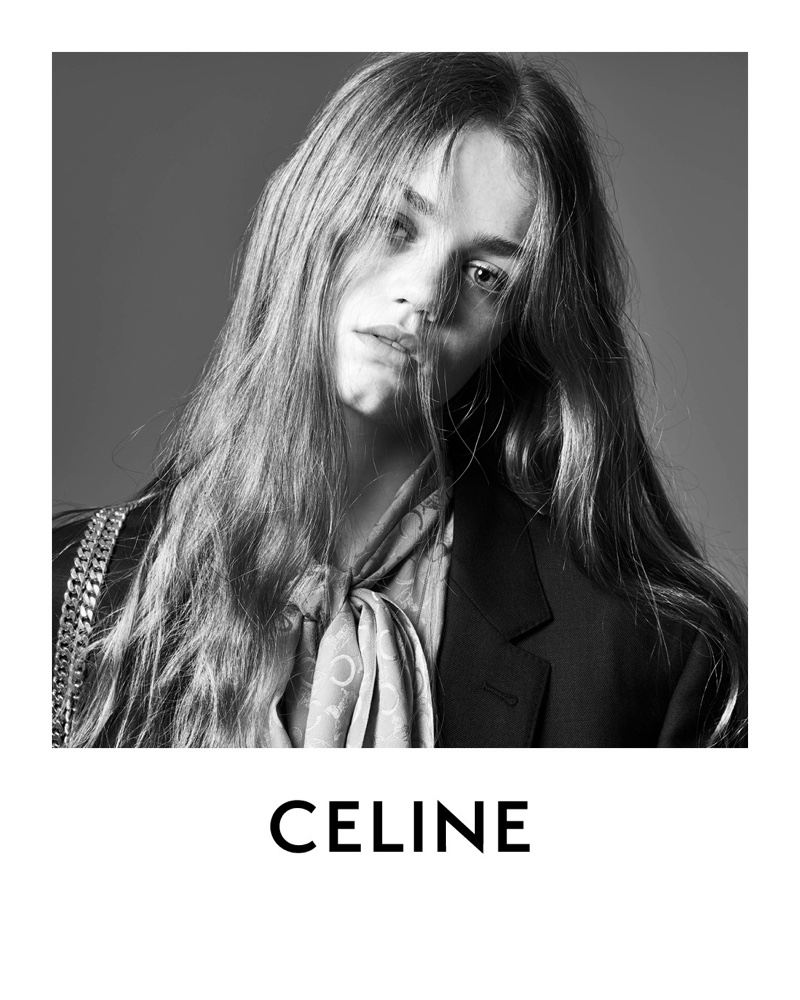 Anna Pepper gets her closeup in Celine's spring 2021 campaign.
