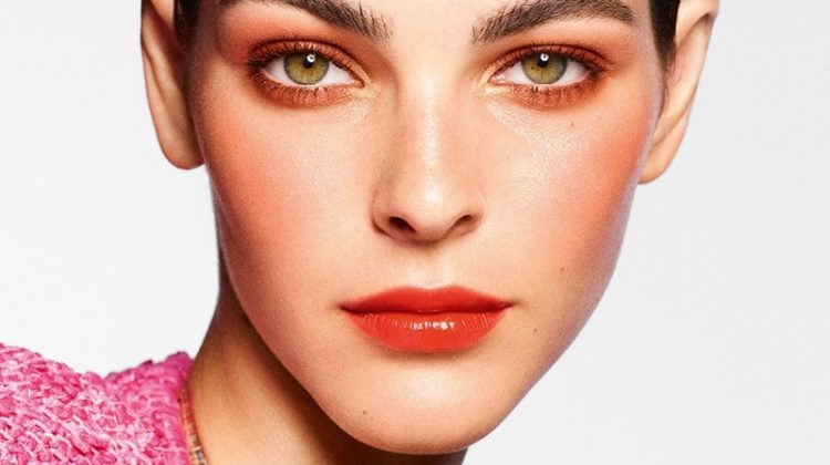 Vittoria Ceretti stars in Chanel Makeup spring-summer 2021 campaign.