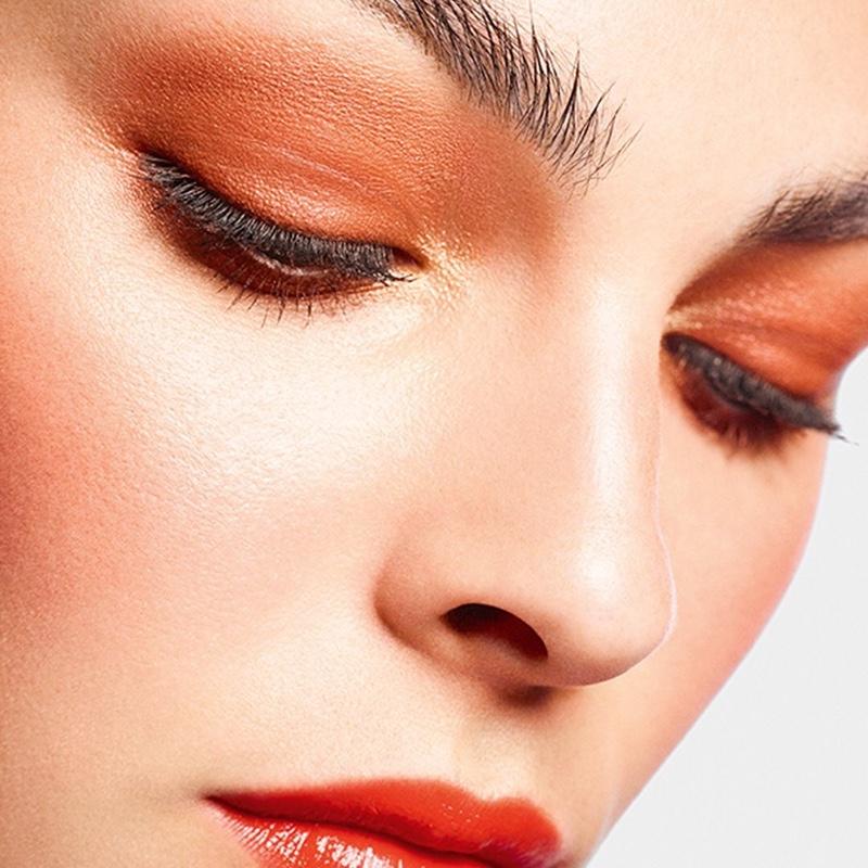 Vittoria Ceretti gets her closeup in Chanel Makeup spring 2021 campaign.