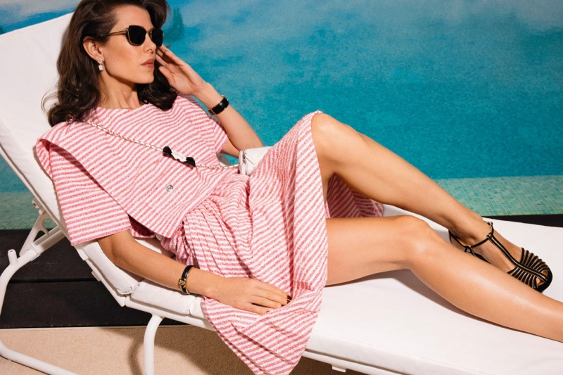 Dressed in pink, Charlotte Casiraghi fronts Chanel spring-summer 2021 campaign.