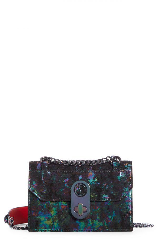 Christian Louboutin Mini Elisa Milkyway Suede Crossbody Bag - Black