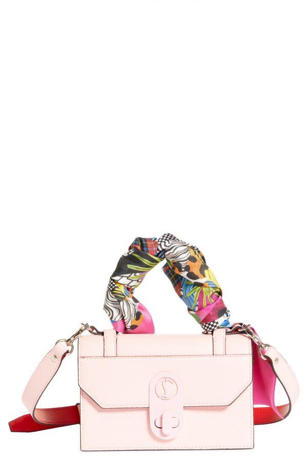 Christian Louboutin Mini Elisa Wrapped Top Handle Leather Shoulder Bag - Pink