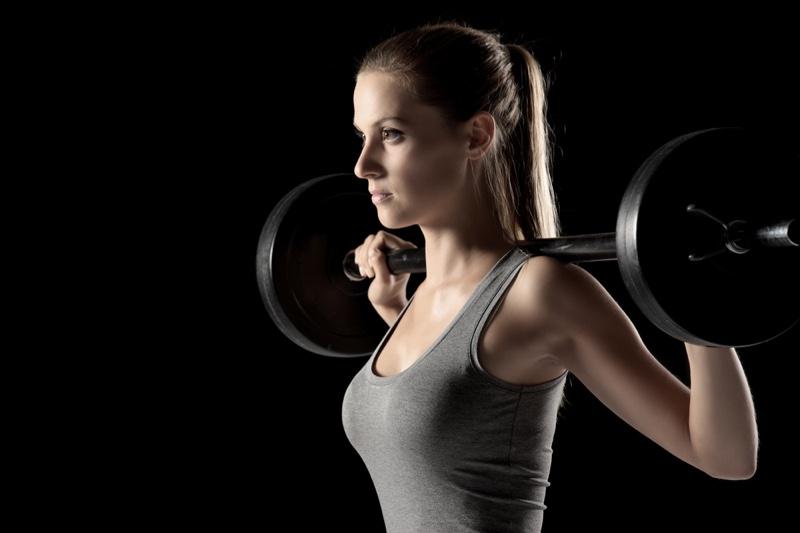 Closeup Woman Lifting Weight