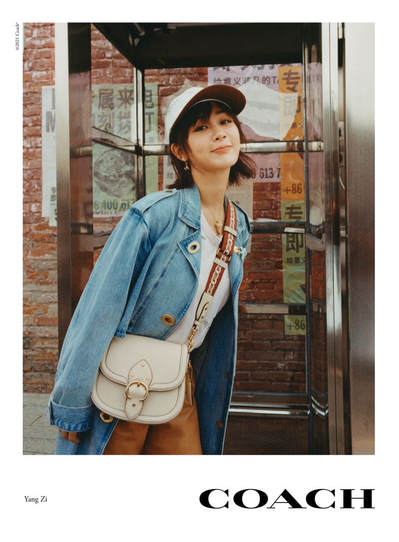 Yang Zi poses for Coach spring-summer 2021 campaign.