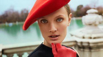 Constance Jablonski Makes a Statement in Red for Harper's Bazaar Spain