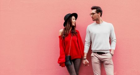 Couple Holding Hands Stylish Outfits