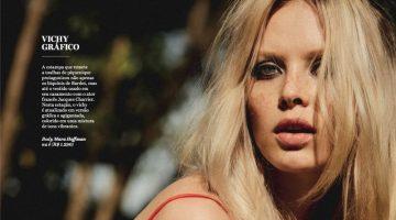 Dani Witt Poses in Retro Swimsuits for Vogue Brazil