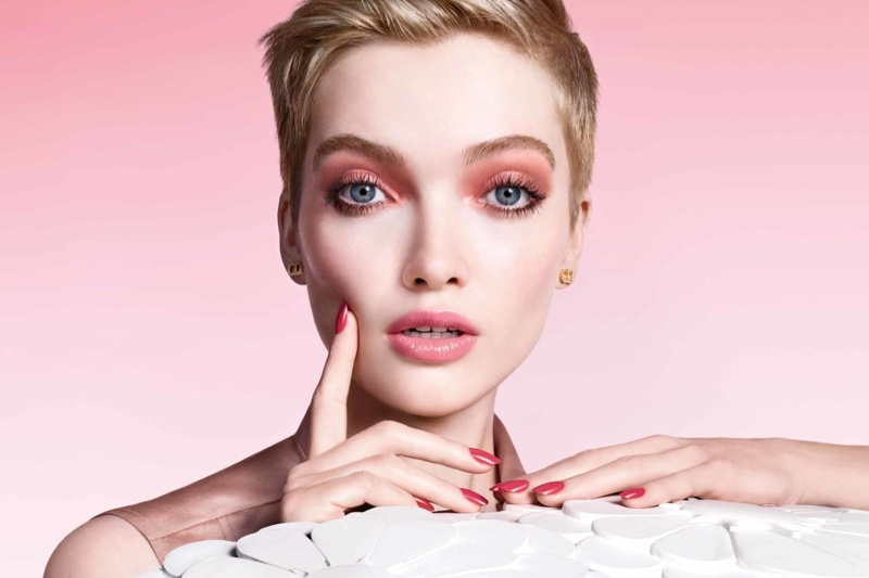 Ruth Bell stars in Dior Pure Glow makeup spring 2021 campaign.