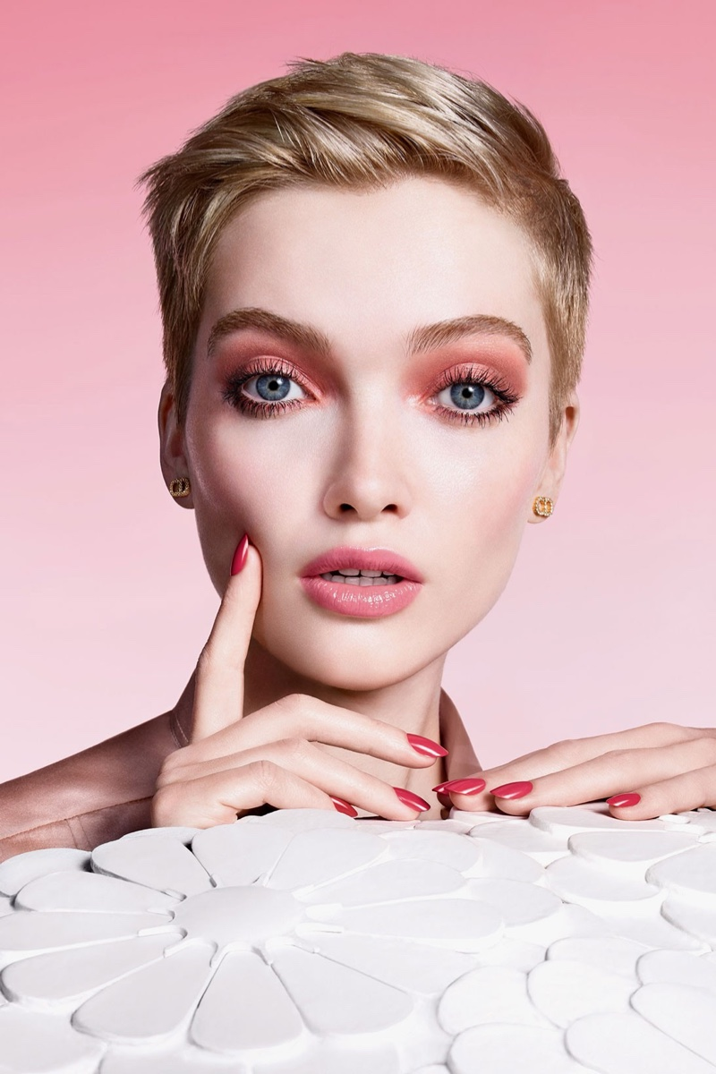 Model Ruth Bell is the face of Dior Pure Glow makeup spring 2021 campaign.