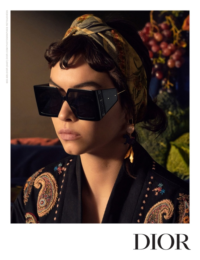 Maryel Uchida wears eyewear in Dior spring-summer 2021 campaign.