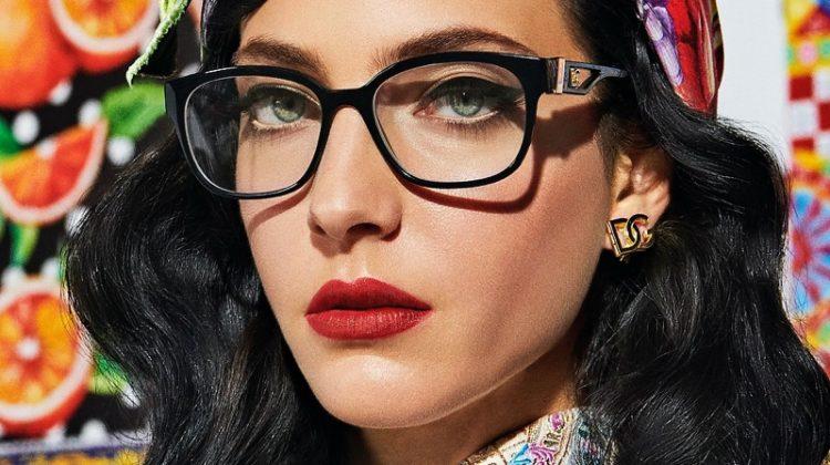 Chiara Leone stars in Dolce & Gabbana Eyewear spring-summer 2021 campaign.