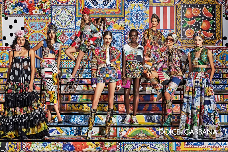 An image from Dolce & Gabbana's spring 2021 advertising campaign.