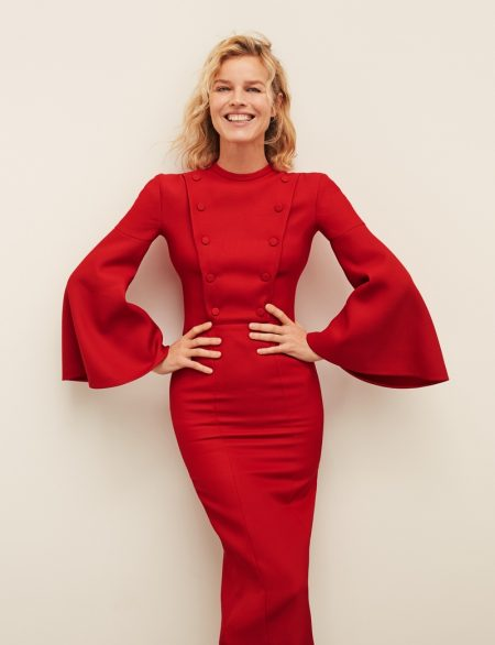 Eva Herzigova Wears Fendi Fashion for ELLE Spain