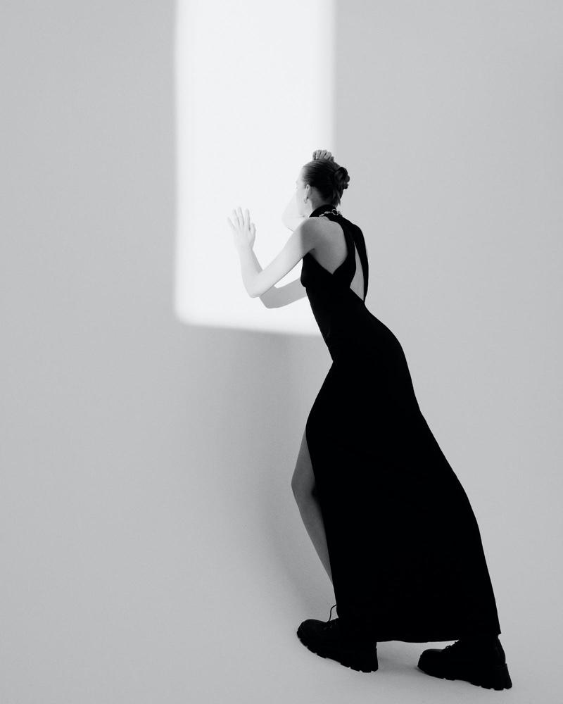 Eva Klimkova Poses in Pared Down Looks for  Vogue Turkey