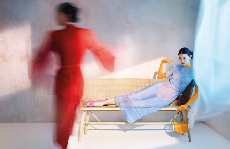Estelle Chen appears in Fendi spring-summer 2021 campaign.