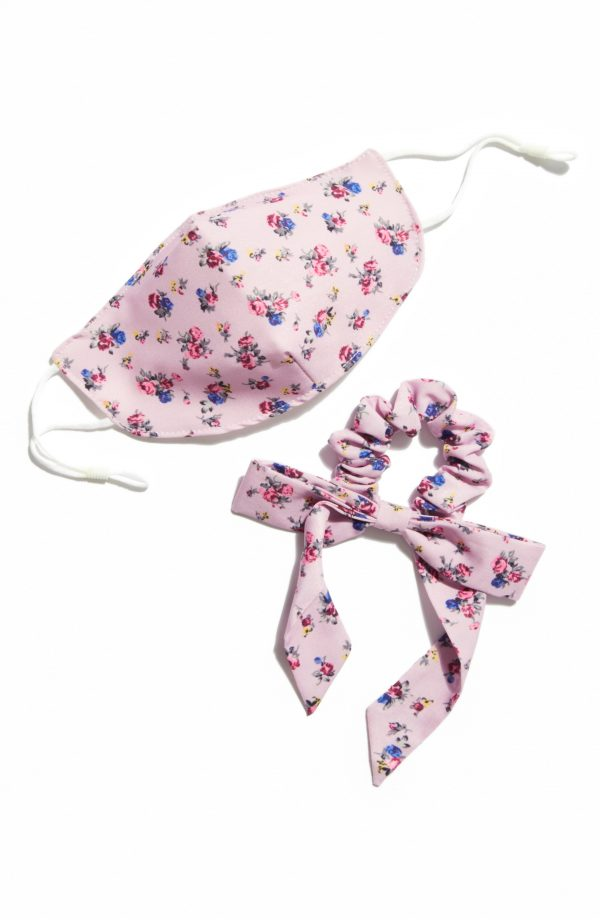 Free People Adult Face Mask & Scrunchie Bow Set, Size One Size - Purple