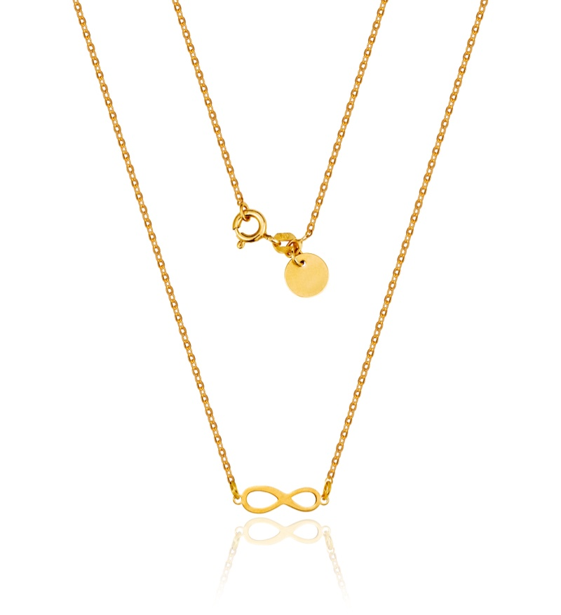 Gold Necklaces Infinity Symbol Circle Shape