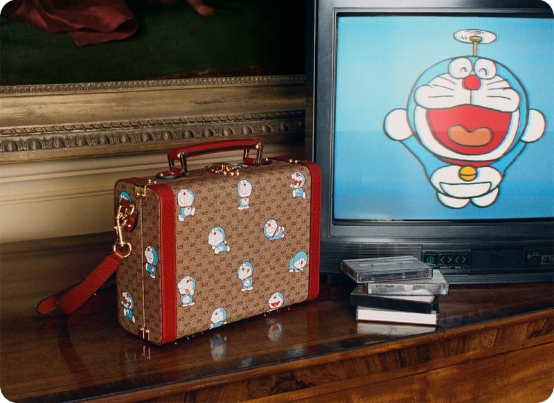 Playful prints decorate the Doraemon x Gucci Lunar New Year collaboration.
