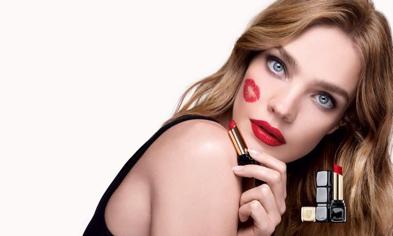 Natalia Vodianova Stuns in Guerlain KissKiss Lipstick Campaign