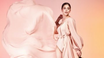 High Fashion Model Pink Look Airy Fabric