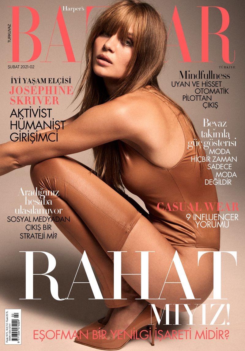 Josephine Skriver on Harper's Bazaar Turkey February 2021 Cover