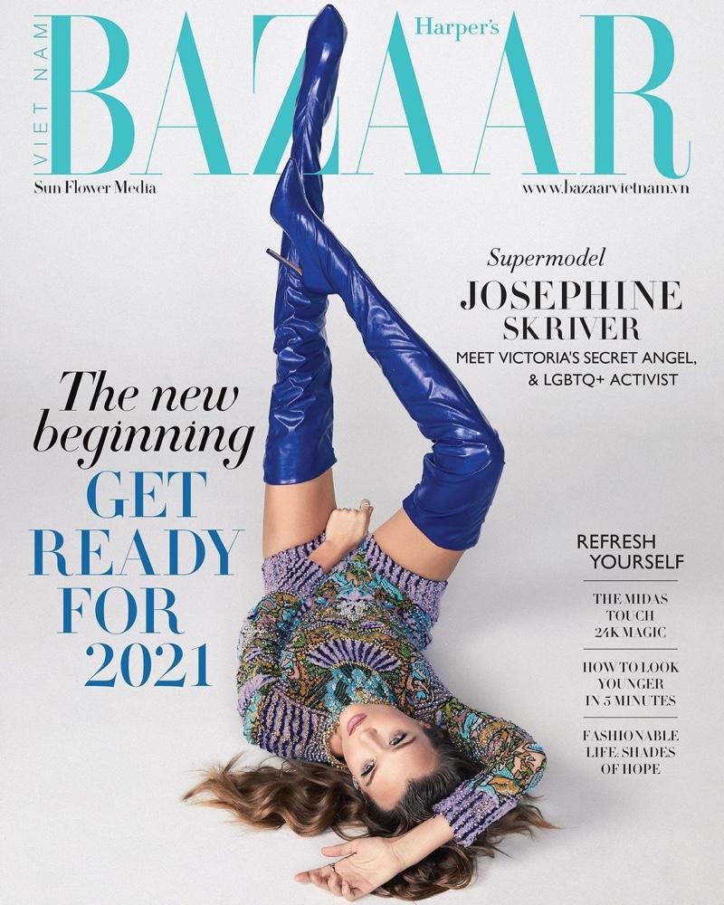 Josephine Skriver Models Luxe Looks for Harper's Bazaar Vietnam