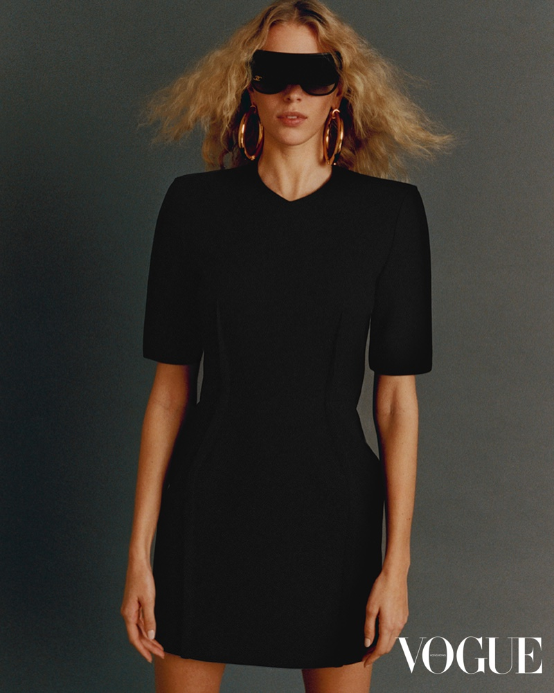 Juliana Schurig Wears Neutral Looks for Vogue Hong Kong