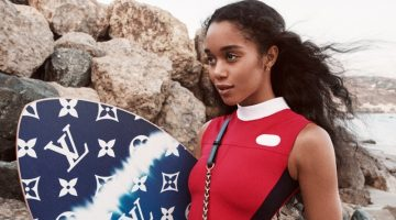 Laura Harrier stars in Louis Vuitton Twist spring-summer 2021 campaign.