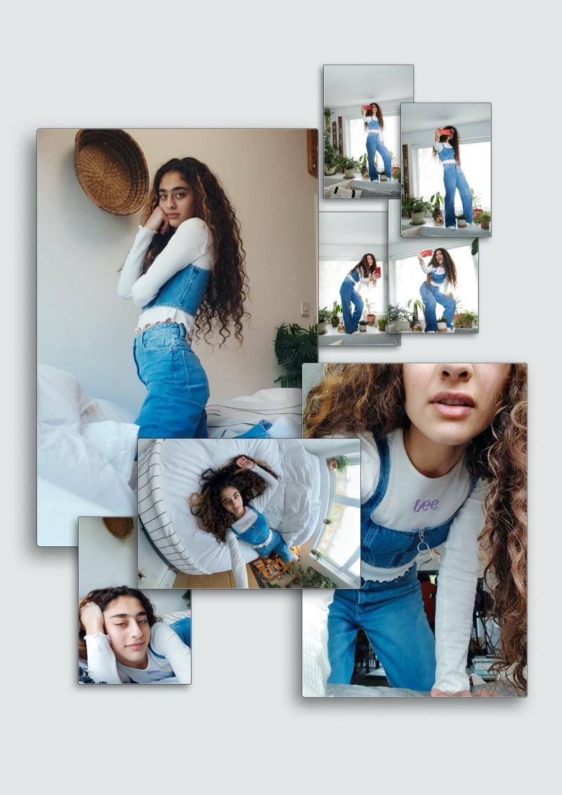 Deba stars in LEE x H&M campaign.