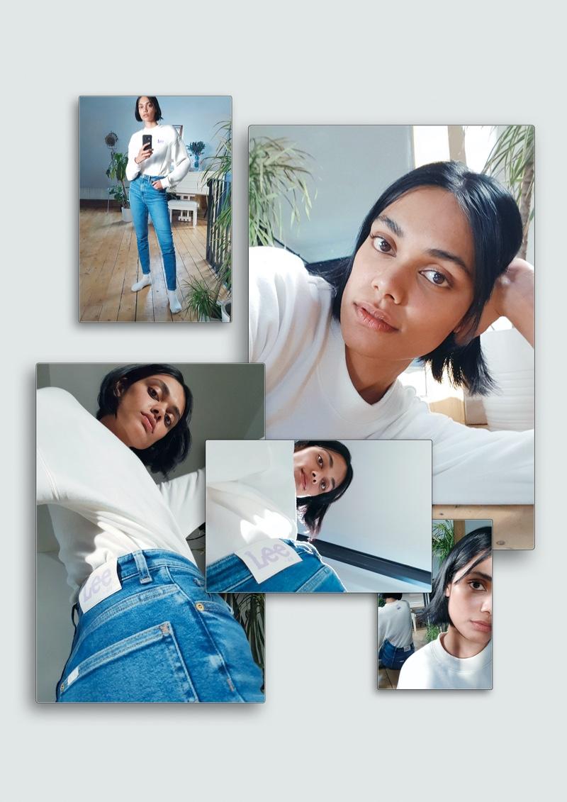 Zinnia Kumar stars in LEE x H&M campaign.