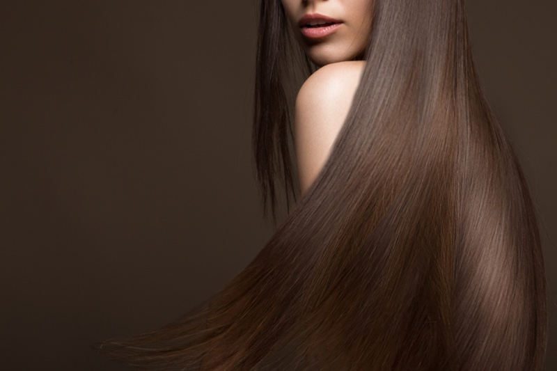 Long Brown Hair Brunette Model Cropped