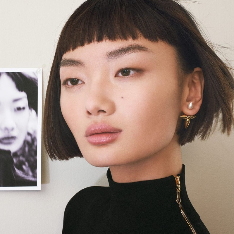 Louis Vuitton focuses on Louisette stud earrings for Lunar New Year 2021 campaign.