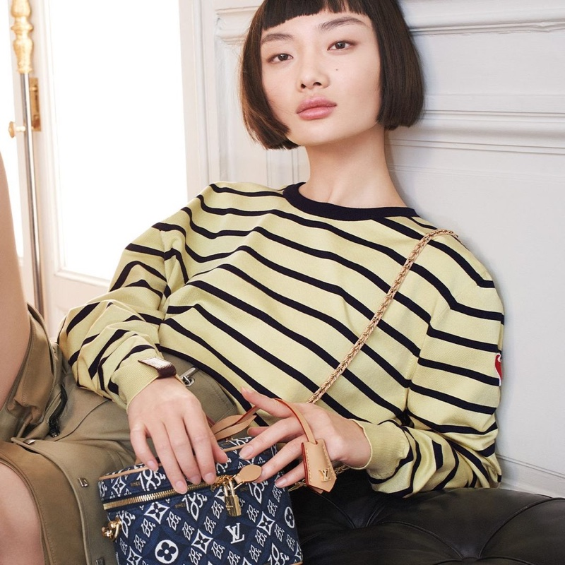 Model Mao Xiaoxing appears in Louis Vuitton Lunar New Year 2021 campaign.