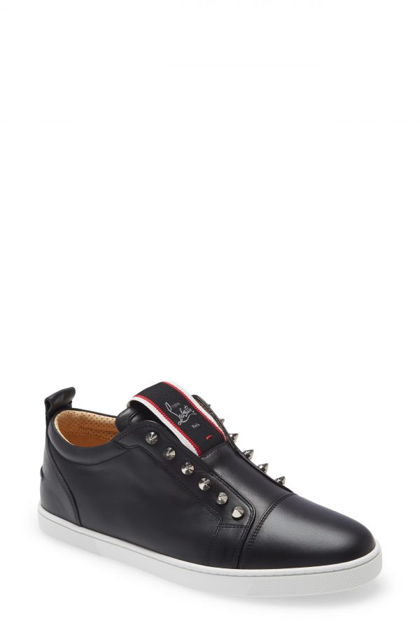 Men's Christian Louboutin F.a.v Fique A Vontade Low Top Sneaker, Size 6US - Black