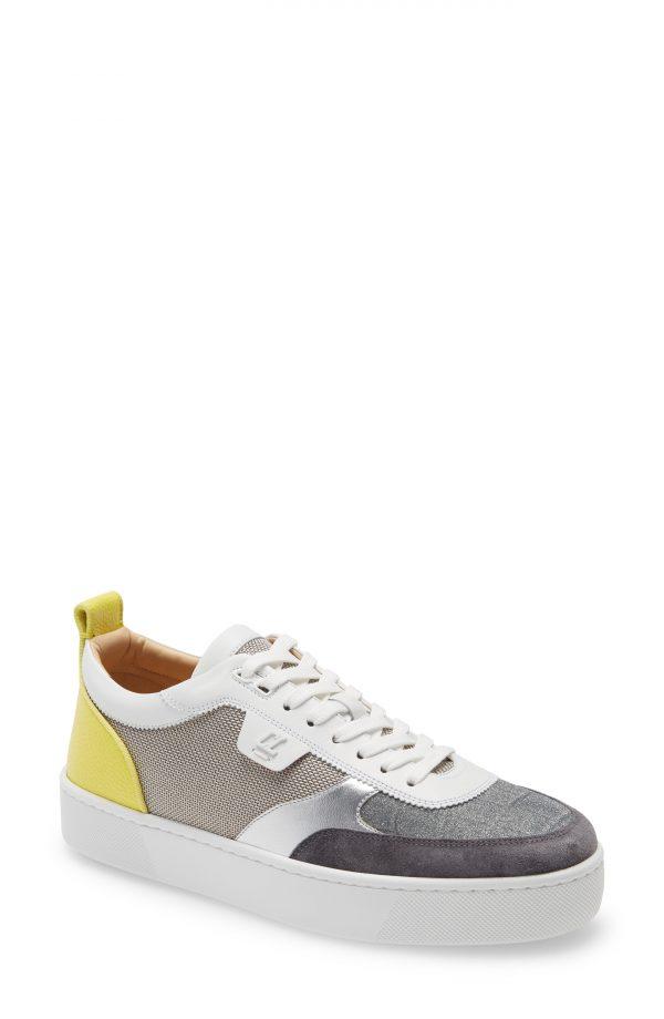 Men's Christian Louboutin Happyrui Low Top Sneaker, Size 6US - Grey